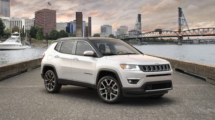 2020 Jeep Compass in the street
