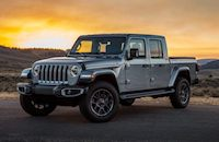 2020 Jeep Gladiator against the sunset