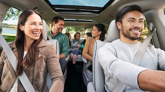 family inside 2020 Chrysler Pacifica