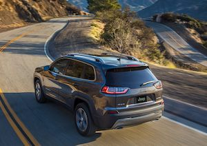 Rear view of the 2020 Jeep Cherokee