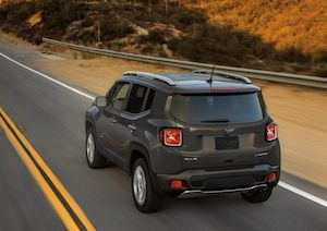 Rear exterior view of the 2020 Jeep Renegade