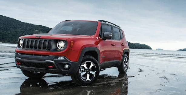2020 Jeep Renegade For Sale parked on a beach