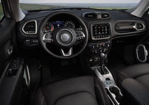 2020 Jeep Renegade view from the driver's seat