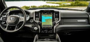 2021 RAM 1500 interior.