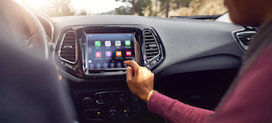 2021 Jeep Compass available 8.4-touchscreen.