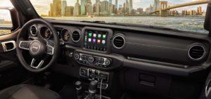 2021 Jeep Gladiator interior.