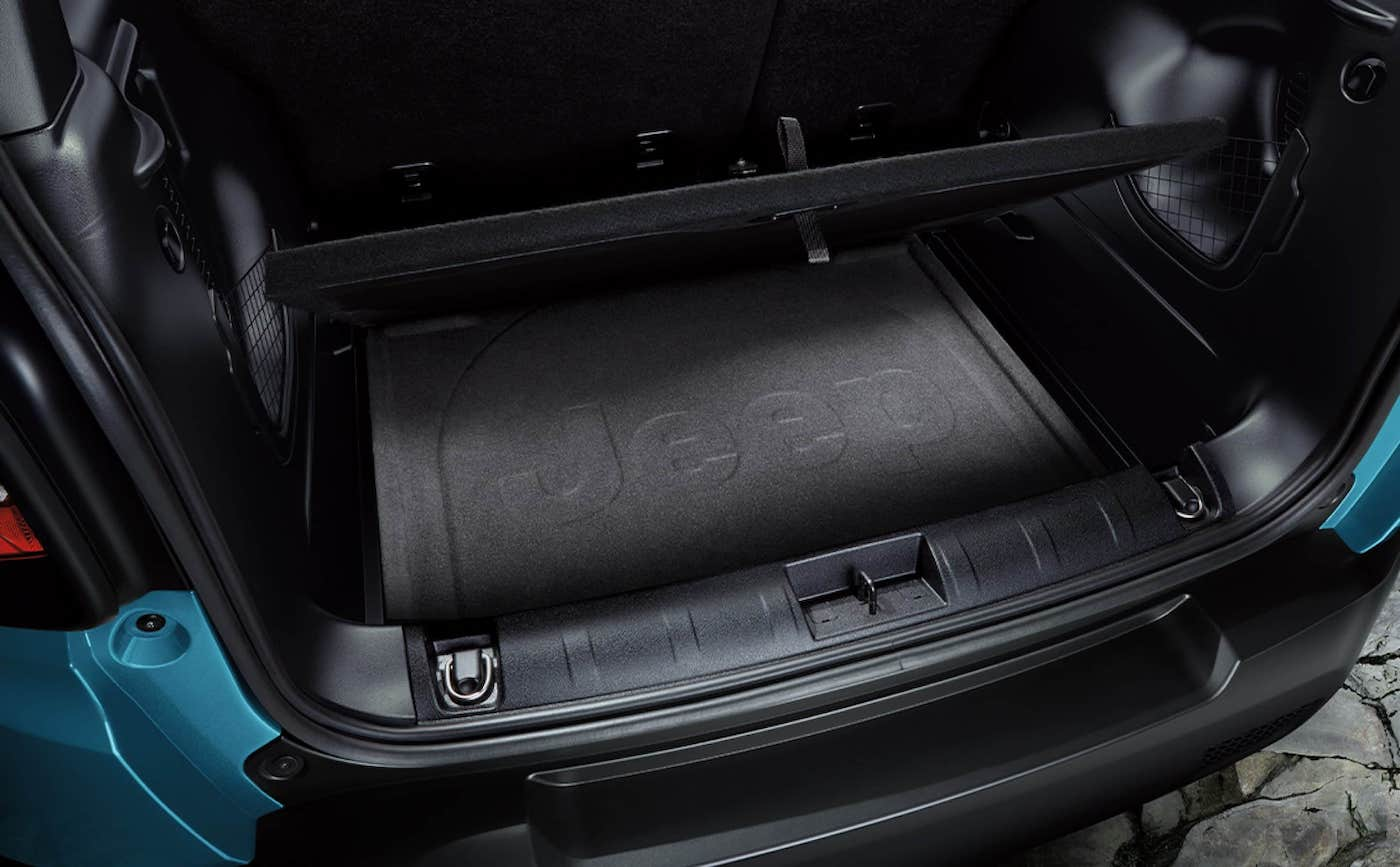 The 2021 Jeep Renegade available adjustable cargo floor