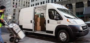 A man loading the 2021 RAM ProMaster Van