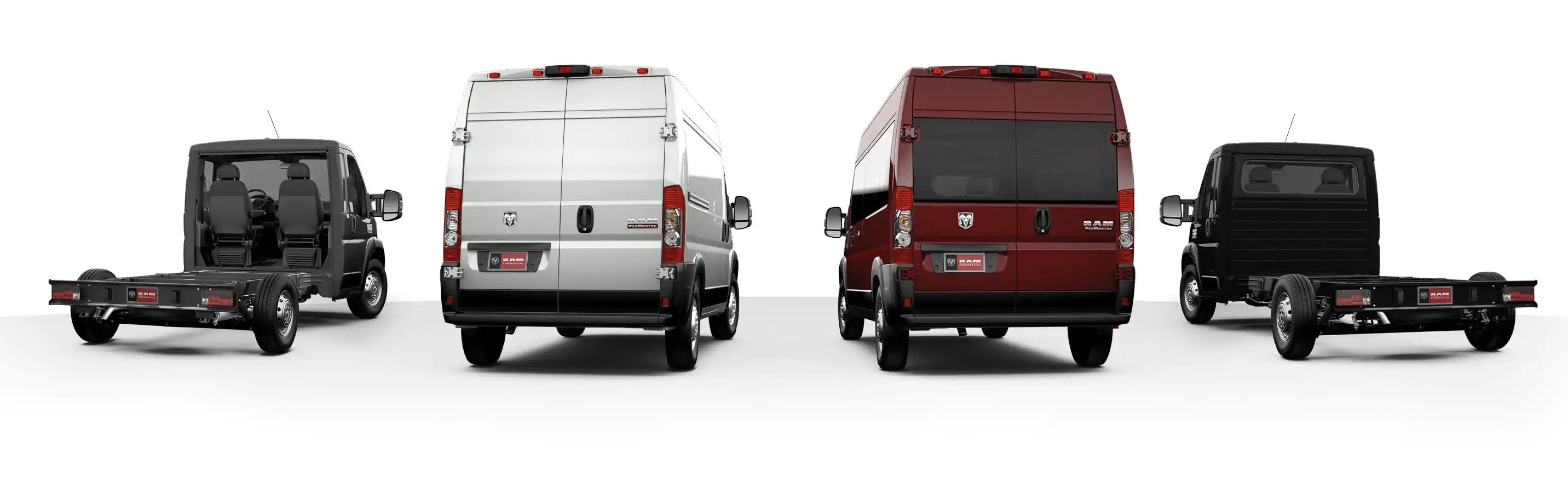 Ram ProMaster Van Lineup