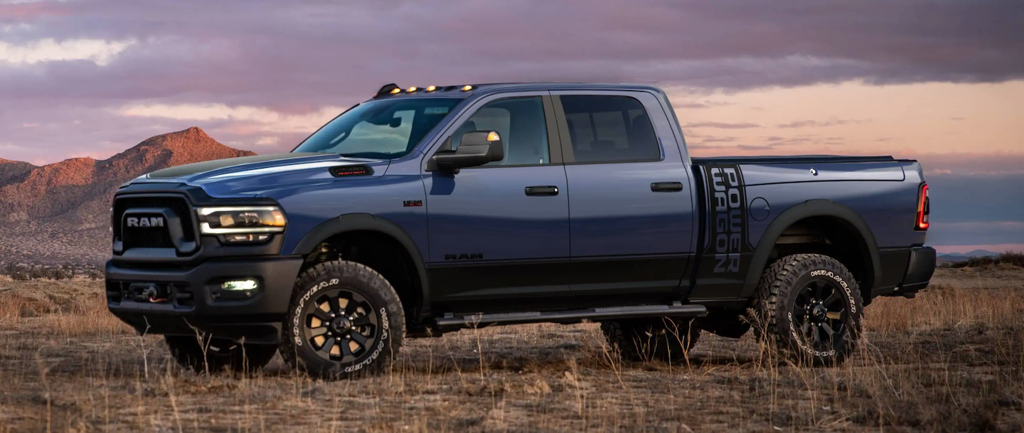 The 2021 RAM 2500 Power Wagon® parked in a desert.